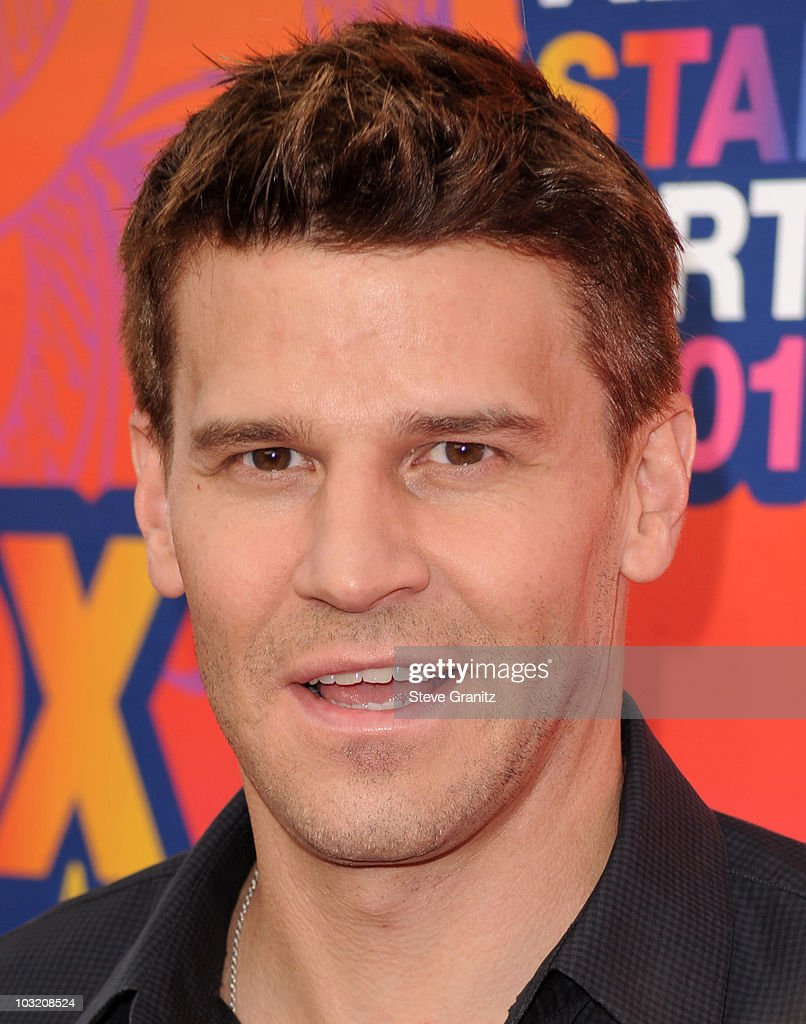David Boreanaz arrives at the FOX 2010 Summer TCA All-Star Party on August 2, 2010 in Santa Monica, California. at Pacific Park .