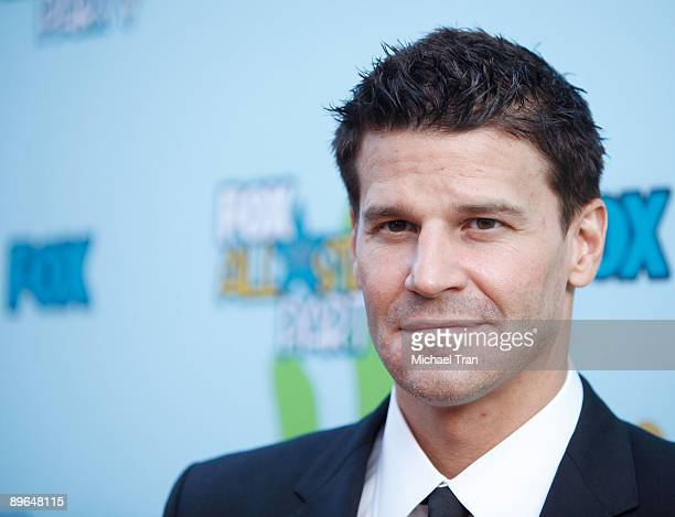 David Boreanaz arrives to the FOX All-Star Party for the 2009 TCA Summer Tour held at The Langham Resort on August 6, 2009 in Pasadena, California.