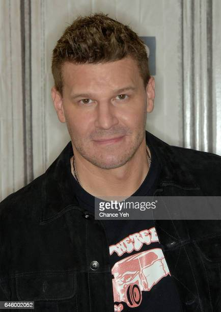David Boreanaz attends Build series to discuss series finale of 'Bones' at Build Studio on February 27 2017 in New York City