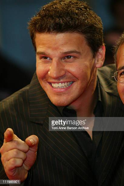 David Boreanaz during Deauville 2002 'I'm with Lucy' Premiere at CID Deauville in Deauville France