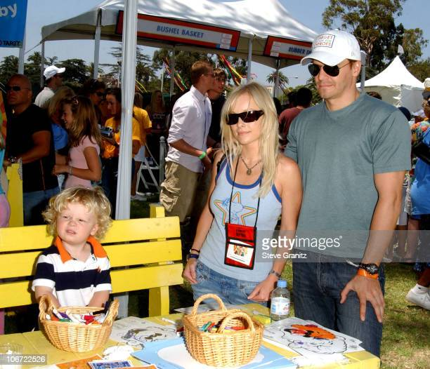 David Boreanaz wife Jaime Bergman and son Jaden at the 2004 Target A Time for Heroes Celebrity Carnival to benefit the Elizabeth Glaser Pediatric...