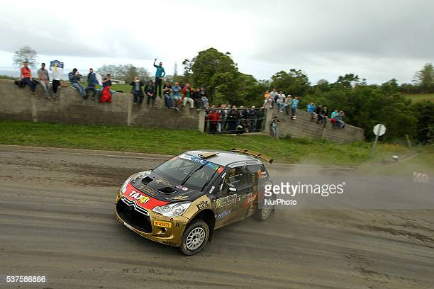David Botka and Peter Szeles in Citroen DS3 R5 of Botka Rallye Team during the shakedow of the FIA ERC Azores Airlines Rallye 2016 in Ponta Delgada...