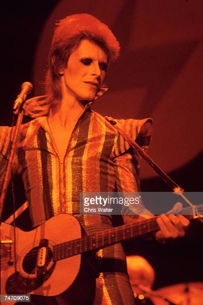 David Bowie, 1973 final show of Ziggy Stardust and the Spiders from Mars, Hammersmith Odeon, London in Hammersmith, United Kingdom.