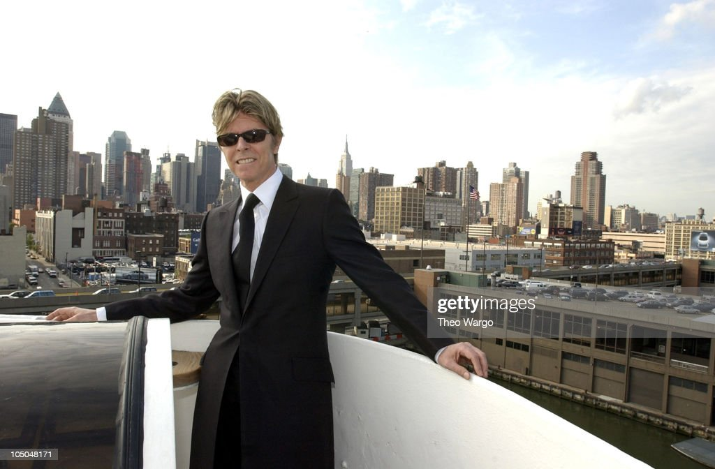 David Bowie disembarks the QE2 in New York City from England. David Bowie will