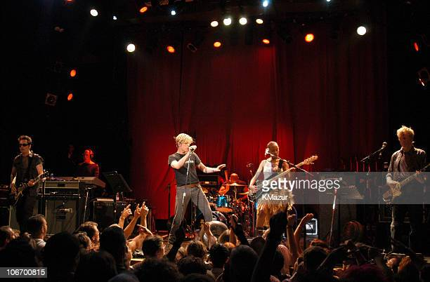 """David Bowie and band during David Bowie Gives Fans a Strong Dose of """"A Reality Tour"""" at Special Poughkeepsie Warm Up Show For His Upcoming World Tour..."""