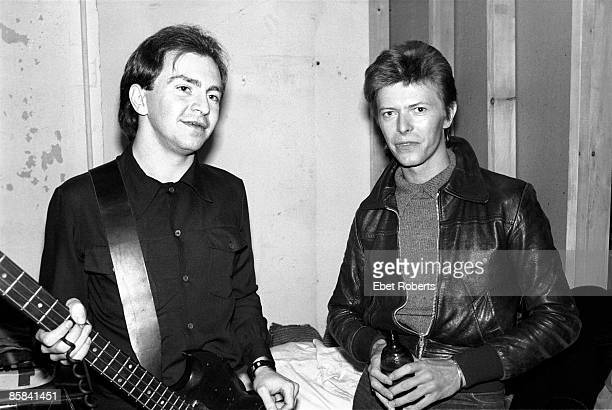 UNITED STATES NOVEMBER 14 MAX'S KANSAS CITY David BOWIE and DEVO and Gerald CASALE Gerald Casale and David Bowie posed backstage