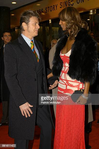 David Bowie and Iman attend The Color Purple Opens on Broadway at The Broadway Theatre on December 1 2005 in New York City
