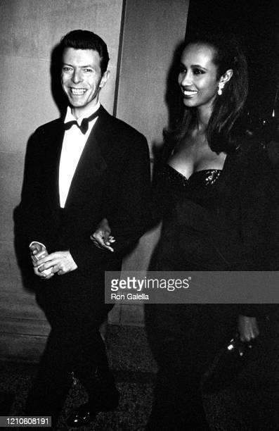 David Bowie and Iman attend the Metropolitan Museum of Art Costume Institute Gala - Theatre de la Mode at the Metropolitan Museum of Art in New York...