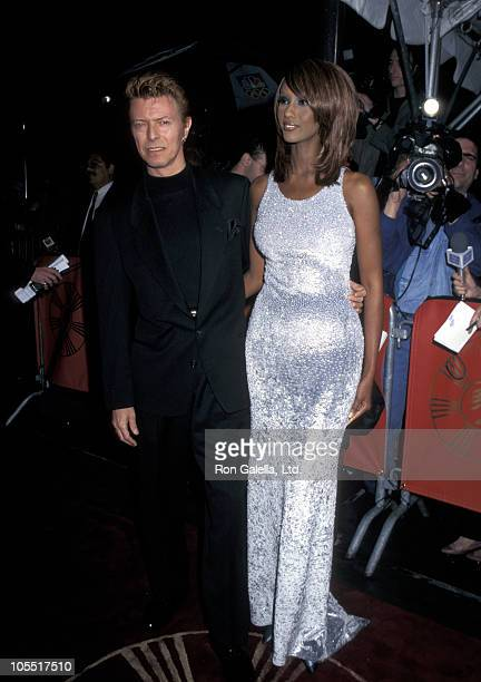 David Bowie and Iman during 9th Annual Essence Awards at Paramount Theater in New York City New York United States