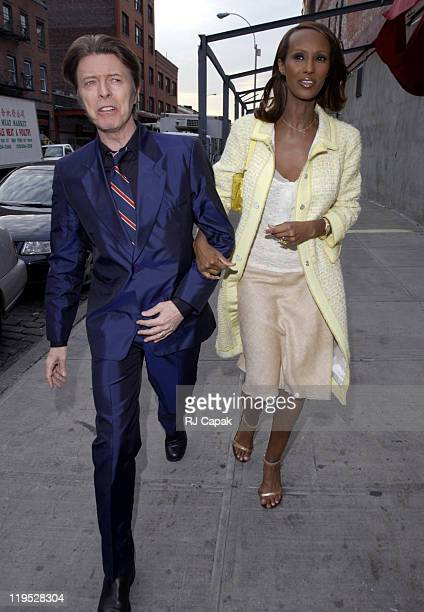 David Bowie and Iman during Liv Tyler and Royston Langdon Renew Their Wedding Vows at New York City in New York City New York United States