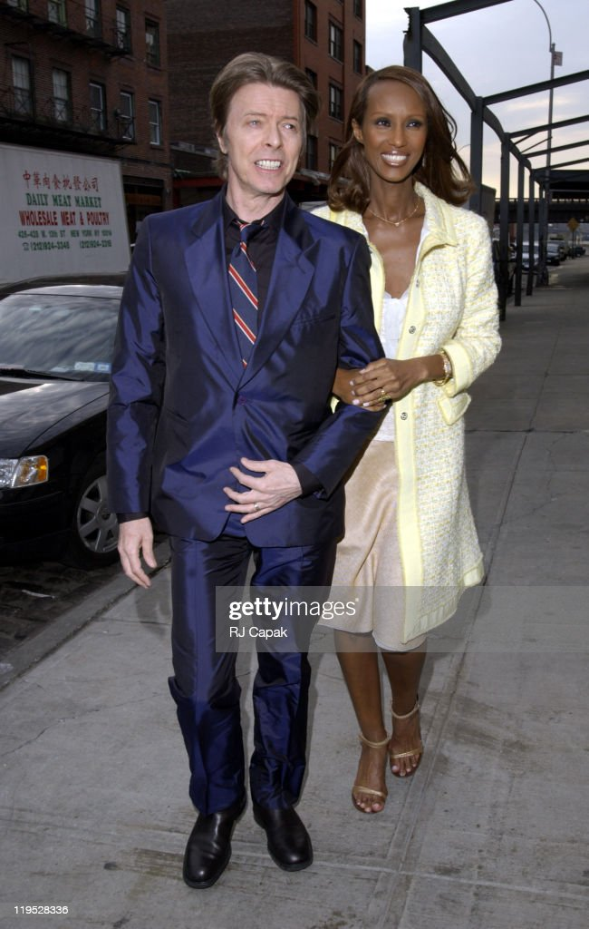 David Bowie And Iman During Liv Tyler Royston Langdon Renew Their Wedding Vows At New