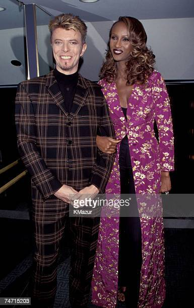 David Bowie and Iman in Wembley London United Kingdom
