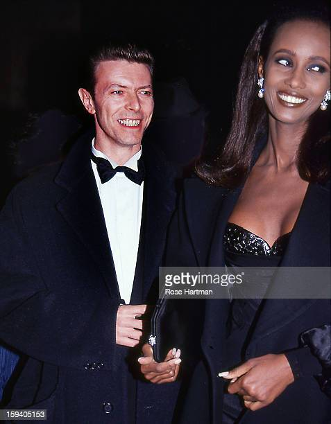 David Bowie and Iman outside a theater New York New York 1992