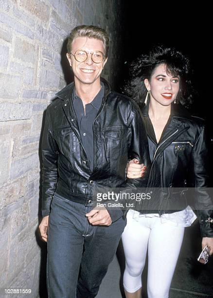 David Bowie and Melissa Hurley