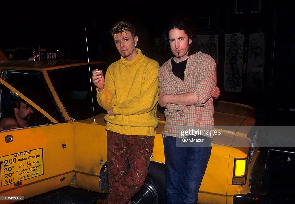 """David Bowie Video shoot for """"I'm Afraid of Americans"""" : News Photo"""