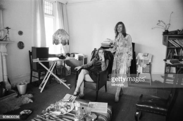 David Bowie and wife Angie at home Haddon Hall at Beckenham Kent 20th April 1971