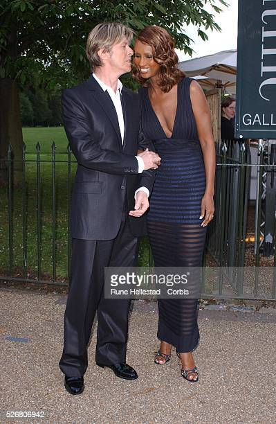 David Bowie and wife Iman at the Serpentine gallery summer party