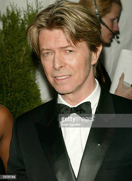 David Bowie arriving at the 2002 CFDA Fashion Awards at The New York Public Library in New York City June 3 2002 Photo Evan Agostini/ImageDirect