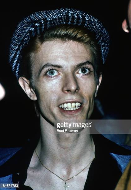 David Bowie at a party in Los Angeles California **EXCLUSIVE**