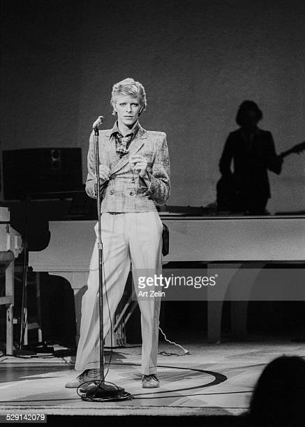 David Bowie at his first NYC concert at Radio City Music Hall October 1974 New York