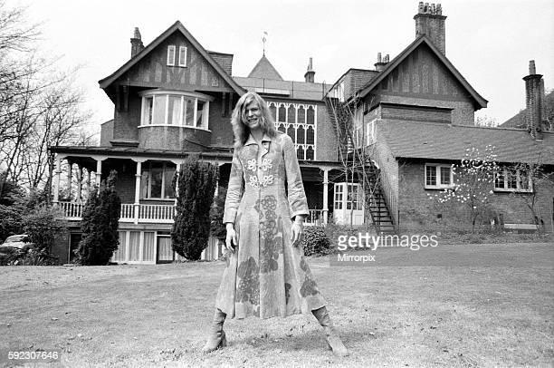 David Bowie at his home, Haddon Hall, at Beckenham, Kent, 20th April 1971.