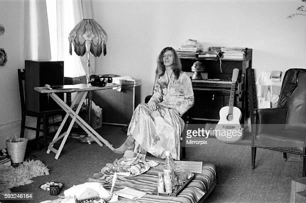 David Bowie at his home Haddon Hall at Beckenham Kent 20th April 1971