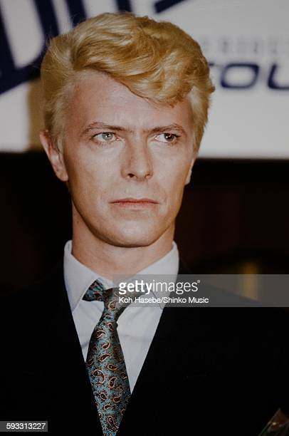 David Bowie at press conference Tokyo October 1983