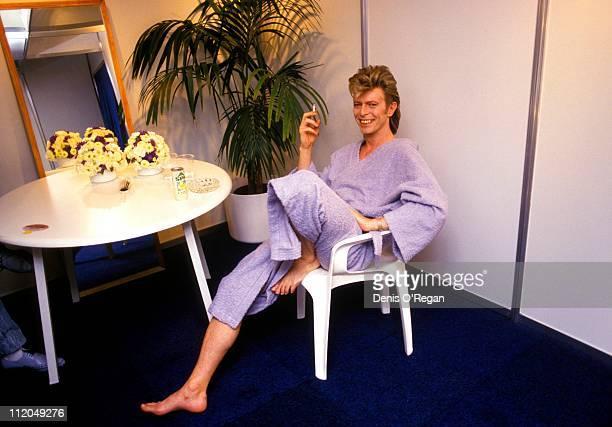 David Bowie backstage in Rotterdam 1987