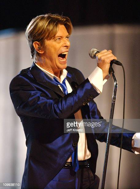 David Bowie during 2002 VH1 Vogue Fashion Awards Show at Radio City Music Hall in New York City New York United States