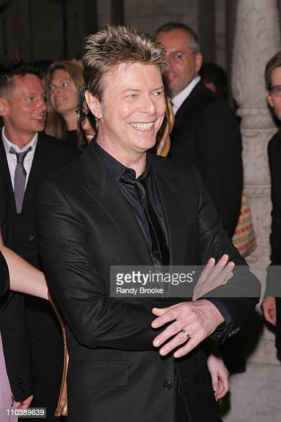 David Bowie during 2005 CFDA Fashion Awards Inside Arrivals at New York Public Library in New York City New York United States
