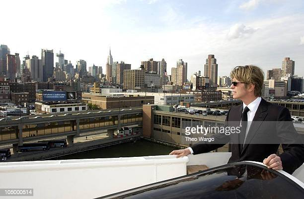 David Bowie during David Bowie disembarks the QE2 in New York City from England David Bowie will begin his North American tour on the Area2 Music...