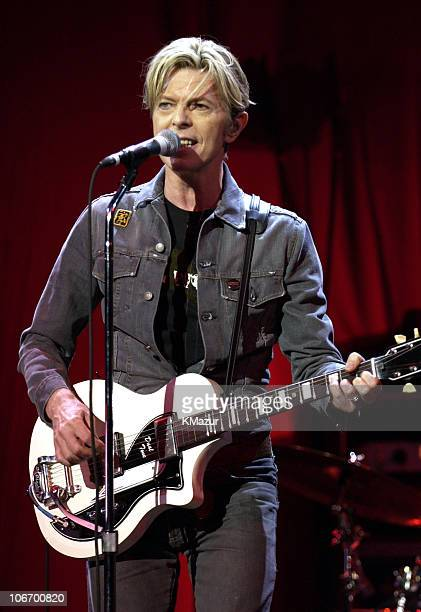 """David Bowie during David Bowie Gives Fans a Strong Dose of """"A Reality Tour"""" at Special Poughkeepsie Warm Up Show For His Upcoming World Tour at The..."""