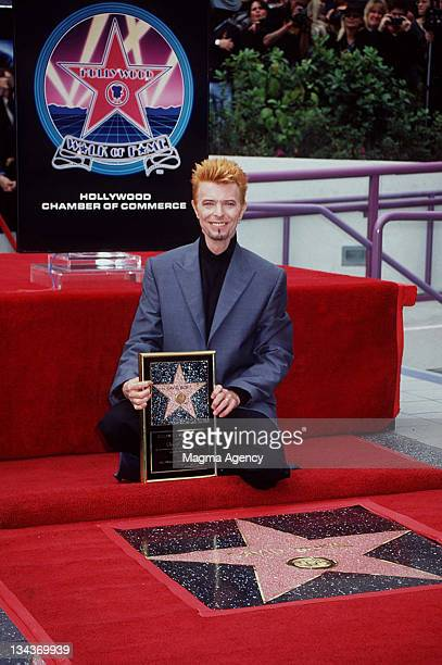 David Bowie during David Bowie Honored with a Star on the Hollywood Walk of Fame at Hollywood Boulevard in Hollywood California United States