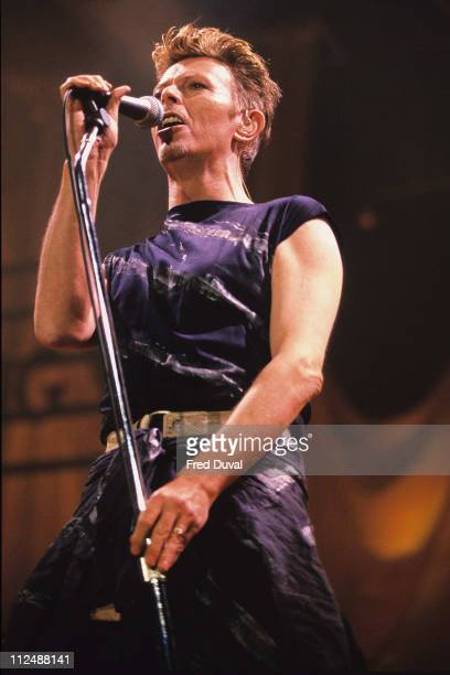 David Bowie during David Bowie live at Wembley Arena at Wembley Arena in London United Kingdom