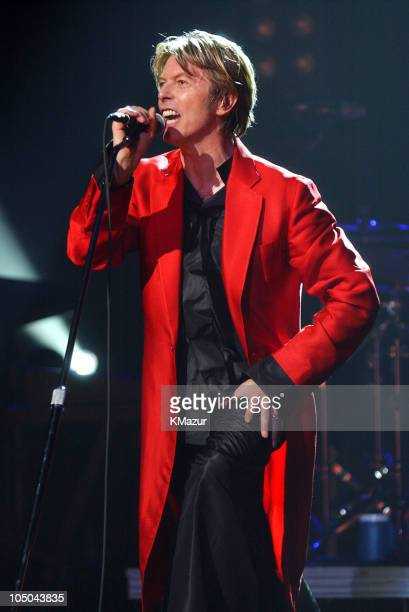 David Bowie during David Bowie performs at the Meltdown Festival that curated by David Bowie at Royal Festial Hall in London London United Kingdom