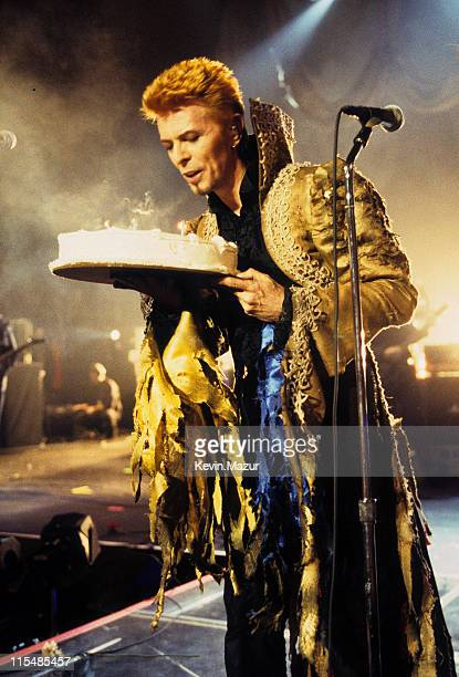David Bowie during David Bowie's 50th Birthday Celebration Concert at Madison Square Garden in New York City New York United States
