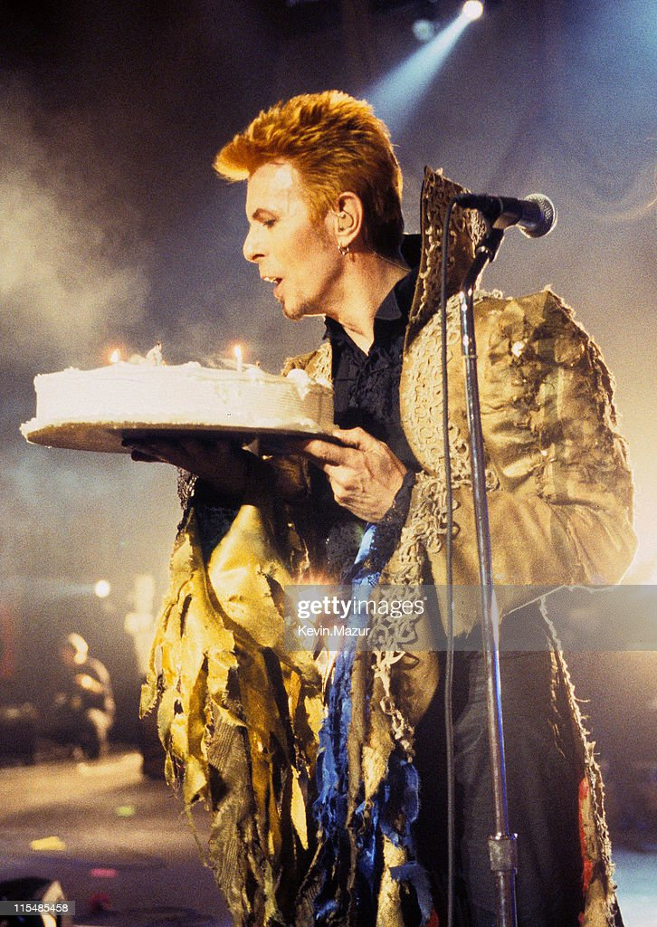 David Bowie during David Bowie's 50th Birthday Celebration Concert at Madison Square Garden in New York City, New York, United States.