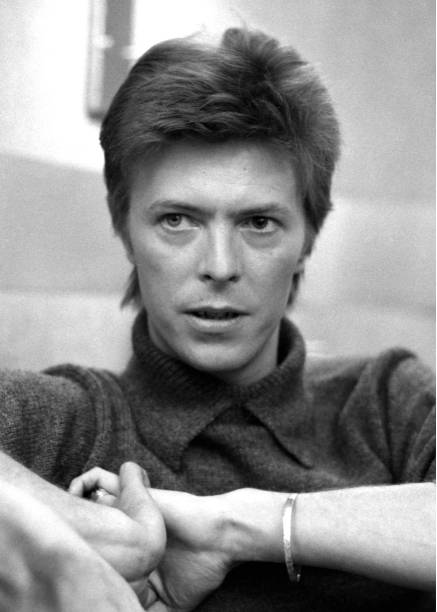 David Bowie during interview at the Mayfair house.