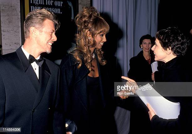 David Bowie Iman and Isabella Rossellini during 13th Annual CFDA Awards at Lincoln Center in New York City New York United States