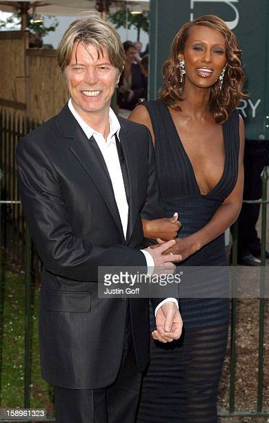 David Bowie Iman At The Serpentine Gallery Summer Party London