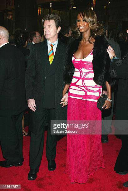 David Bowie Iman during 'The Color Purple' Opening on Broadway at Broadway Theater in New York New York United States