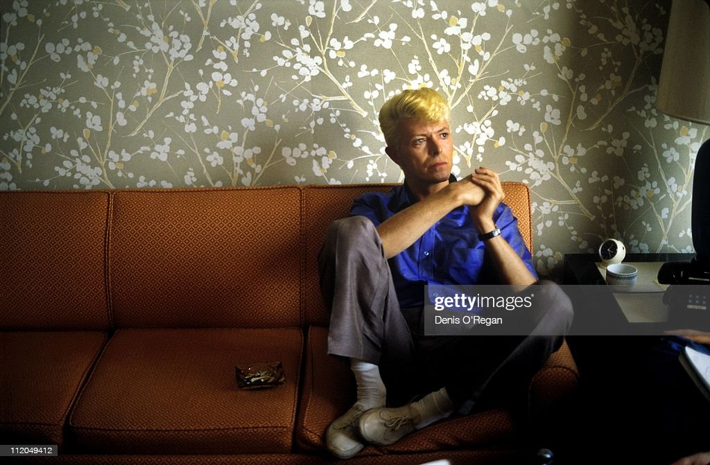David Bowie in a Hong Kong hotel, 1983.