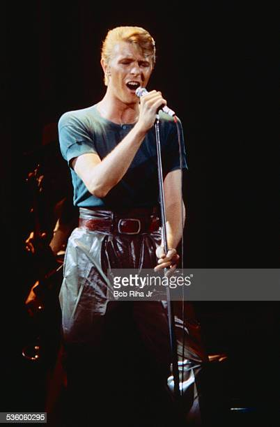 David Bowie in concert at the Los Angles Forum April 4 1978 in Inglewood California