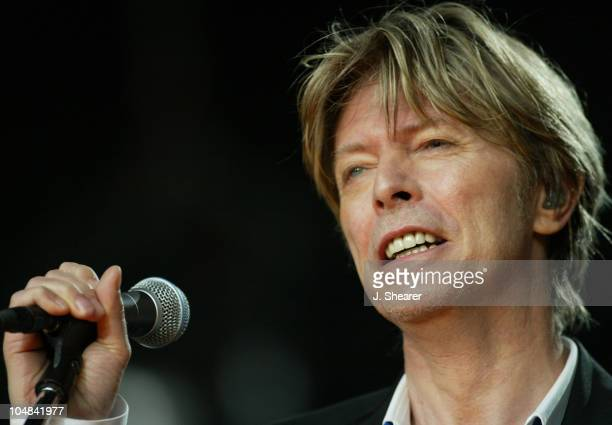 David Bowie in Concert during 'Area2' Festival in Northern California at Shoreline Amphitheatre in Mountain View California United States