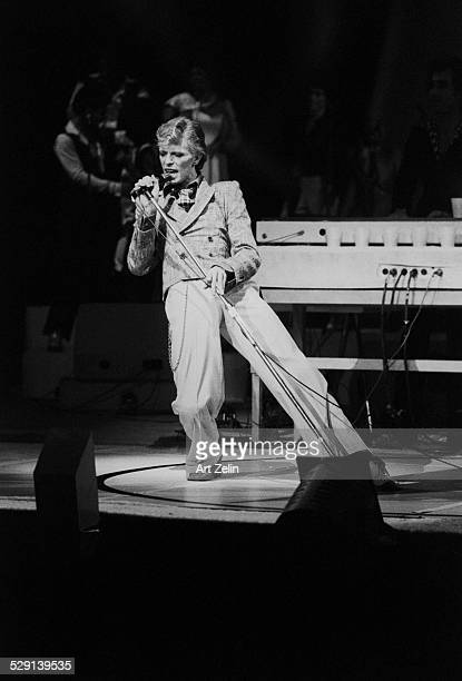 David Bowie in performance circa 1970 New York