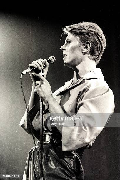 David Bowie is performing at the Fresno convention Center in Fresno California on April 2 1978