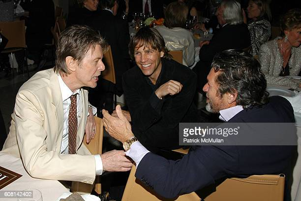David Bowie Matt Nye and Jann Wenner attend VANITY FAIR Tribeca Film Festival Party hosted by GRAYDON CARTER and ROBERT DE NIRO at The State Supreme...