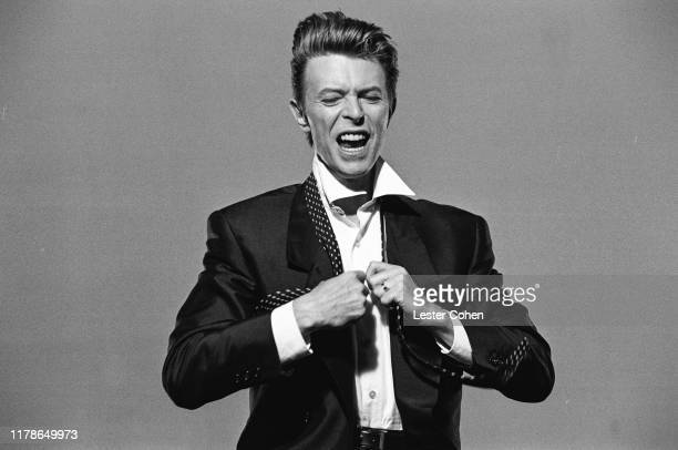"""David Bowie On Set of """"Jump They Say"""" Music Video, in Los Angeles California, circa March 1993."""