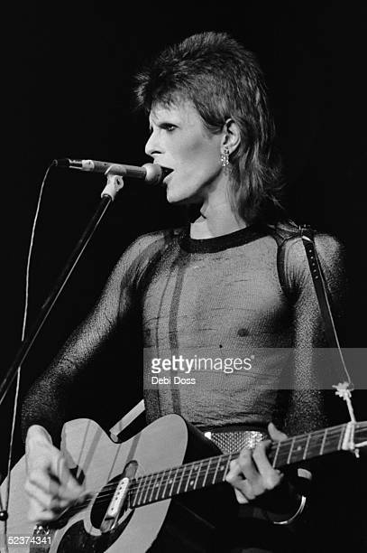 David Bowie on stage, in his last concert appearance as Ziggy Stardust, at the Hammersmith Odeon, London, 3rd July 1973.