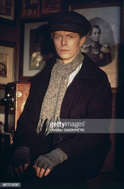 David Bowie on the set of David Hemmings' film 'Just a Gigolo' 20th January 1978